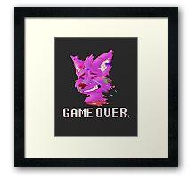 Game Over :( Framed Print