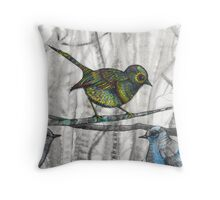 little bird little bird Throw Pillow