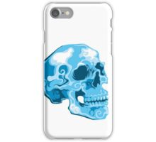 blue skull illustration iPhone Case/Skin