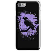 Crow bleached violet iPhone Case/Skin