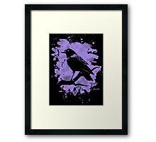 Crow bleached violet Framed Print
