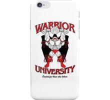 Warrior University iPhone Case/Skin