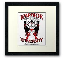 Warrior University Framed Print