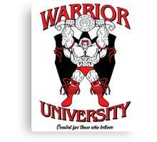 Warrior University Canvas Print