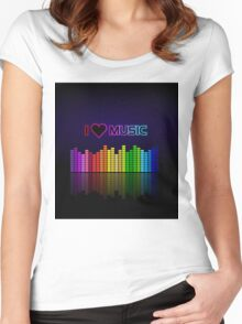 I love music Women's Fitted Scoop T-Shirt