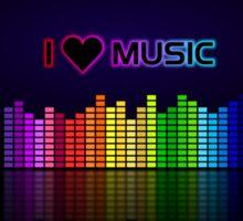 I love music Sticker