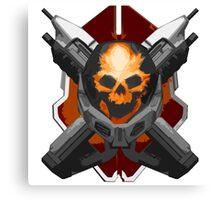 Skull and Rifles Canvas Print
