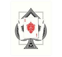 Ace Spade Art Print