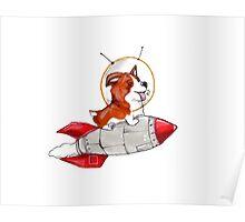 Rocket Corgi Poster