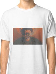 Orange Psychedelic Design Classic T-Shirt