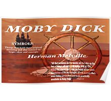 Moby Dick Symbols Poster