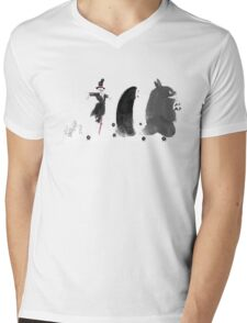 Ghibli Road Mens V-Neck T-Shirt