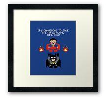 The Legend of Superheroes Framed Print