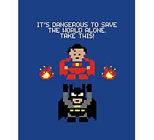 The Legend of Superheroes Photographic Print