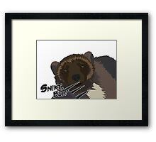 Quotes and quips - snikt, bub Framed Print