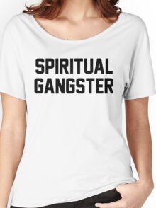 Spiritual Gangster - Black Text Women's Relaxed Fit T-Shirt