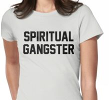 Spiritual Gangster - Black Text Womens Fitted T-Shirt