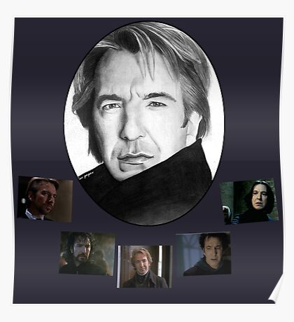 The Many Faces of Alan Rickman Poster