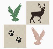 Wildlife Pattern Kids Tee