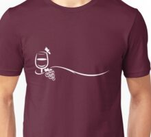 Red Wine Lover and Grape Vine Unisex T-Shirt