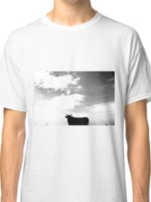 The silhouette of a bull on the sky Classic T-Shirt