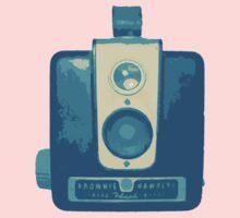 Classic Hawkeye Camera Design in Blue One Piece - Short Sleeve