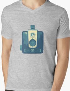 Classic Hawkeye Camera Design in Blue Mens V-Neck T-Shirt