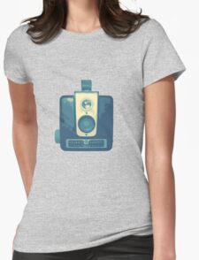 Classic Hawkeye Camera Design in Blue Womens Fitted T-Shirt