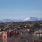Aerial View, March, Santa Fe, New Mexico by lenspiro