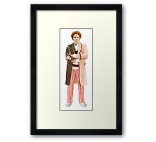 Regenerated 6th Doctor Framed Print