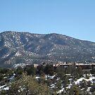 Aerial View, Santa Fe, New Mexico by lenspiro