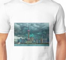 ☝ ☞Oriental Pearl Tower &BUILDINGS-PICTURE-PILLOW-TOTE BAG 东方明珠广播电视塔) IS A TV TOWER IN SANGHAI CHINA☝ ☞ Unisex T-Shirt