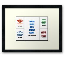 Tony Robbins Inspirational Quotes Framed Print