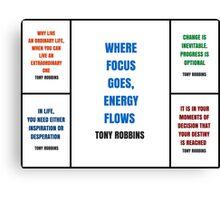 Tony Robbins Inspirational Quotes Canvas Print
