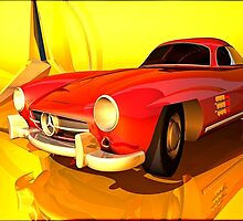 Mercedes-Benz 300 SL (red) by andreisky