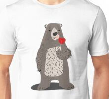 bear with heart lollipop Unisex T-Shirt