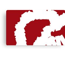 Smashed Ruby Abstract Painting Canvas Print