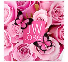 JW.ORG (Pink flowers) Poster