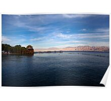 Israel, Eilat, Dolphin Reef Beach Poster