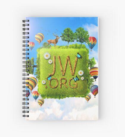 JW.ORG (Paradise, Deer, Hot Air Balloons) Spiral Notebook