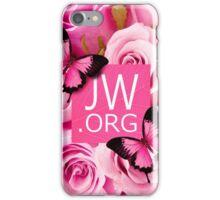 JW.ORG (Pink flowers) iPhone Case/Skin