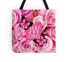 JW.ORG (Pink flowers) Tote Bag