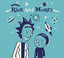 Retro Rick and morty by ICECHIBII
