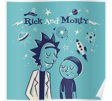 Retro Rick and morty Poster