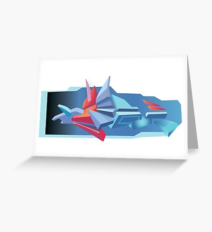 3D Graffiti Greeting Card