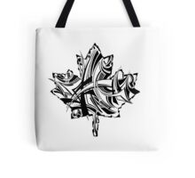 Maple Leaf Black Tote Bag