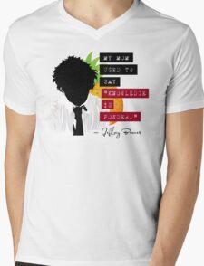 "Jeffrey Barnes—""Knowledge is Powder"" (Chuck TV Show) Mens V-Neck T-Shirt"