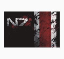 Mass Effect N7 distressed One Piece - Long Sleeve