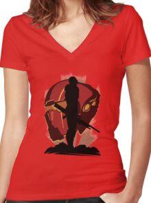 Commander Shepard Women's Fitted V-Neck T-Shirt