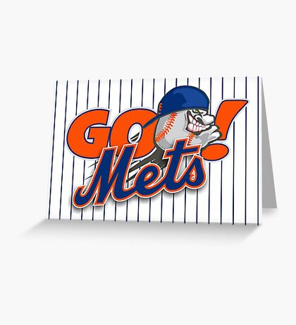 Go Mets  Greeting Card